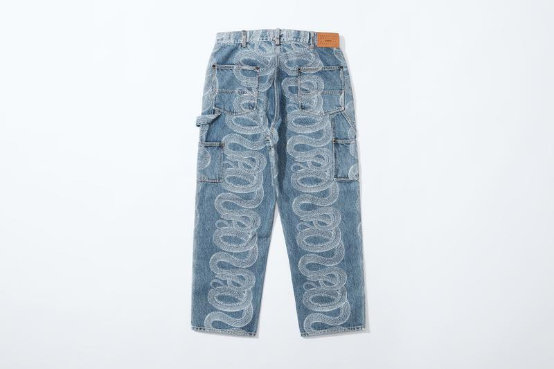 supreme hysteric glamour spring collaboration denim jeans