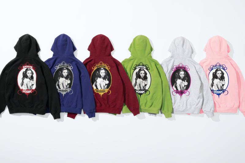 supreme hysteric glamour spring collaboration hoodie