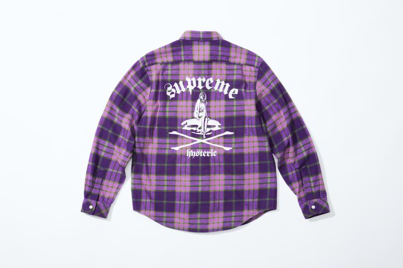 supreme hysteric glamour spring collaboration flannel plaid