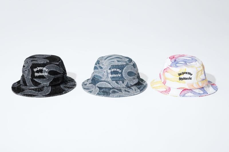 supreme hysteric glamour spring collaboration bucket hat