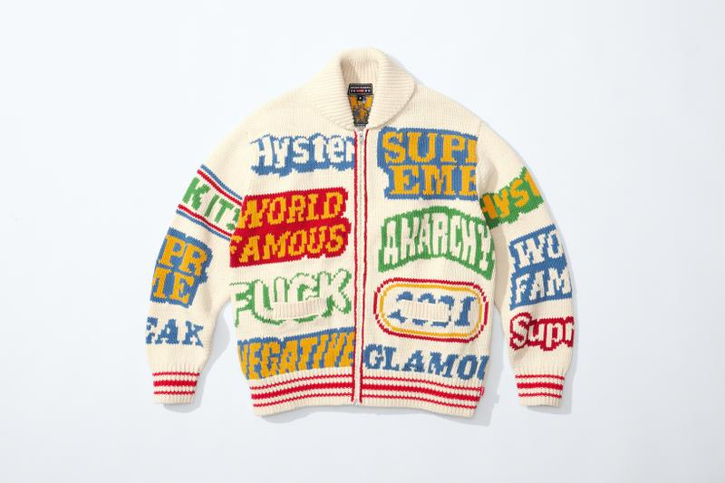 supreme hysteric glamour spring collaboration jacket sweater