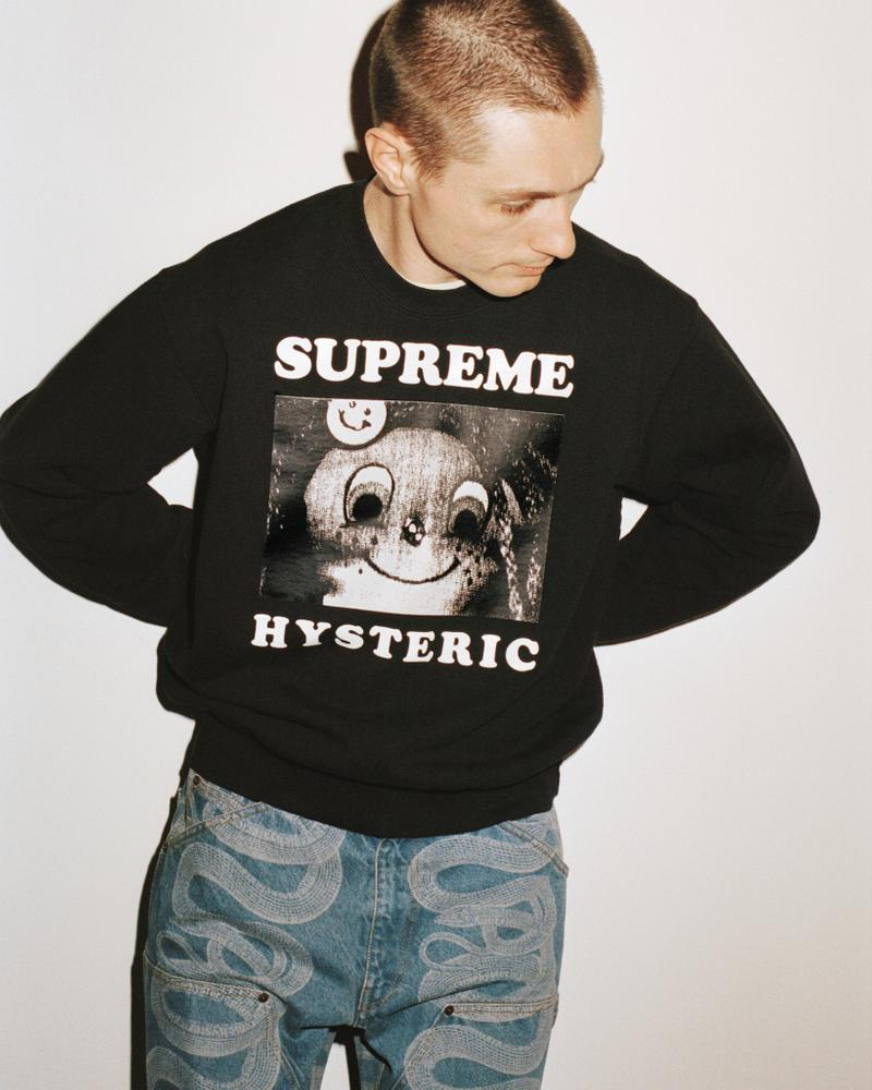 supreme hysteric glamour spring collaboration sweater