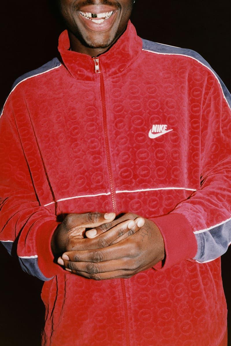 supreme nike collaboration spring drop track jacket red logo