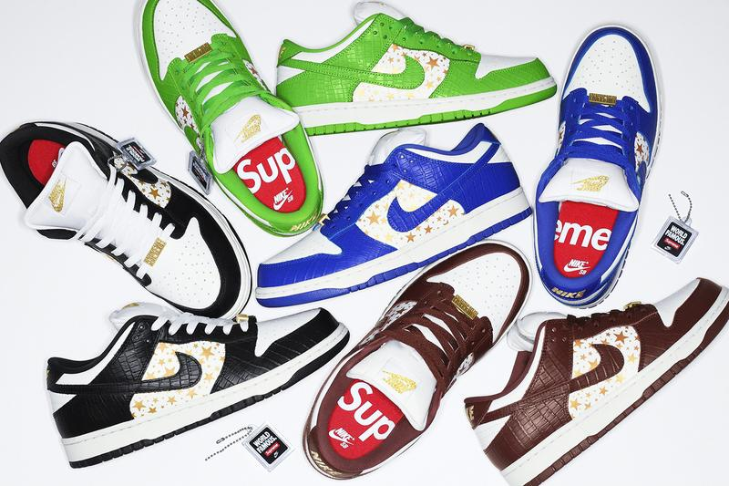 Supreme x Nike SB Dunk Low Spring Summer 2021 Collaboration Mean Green