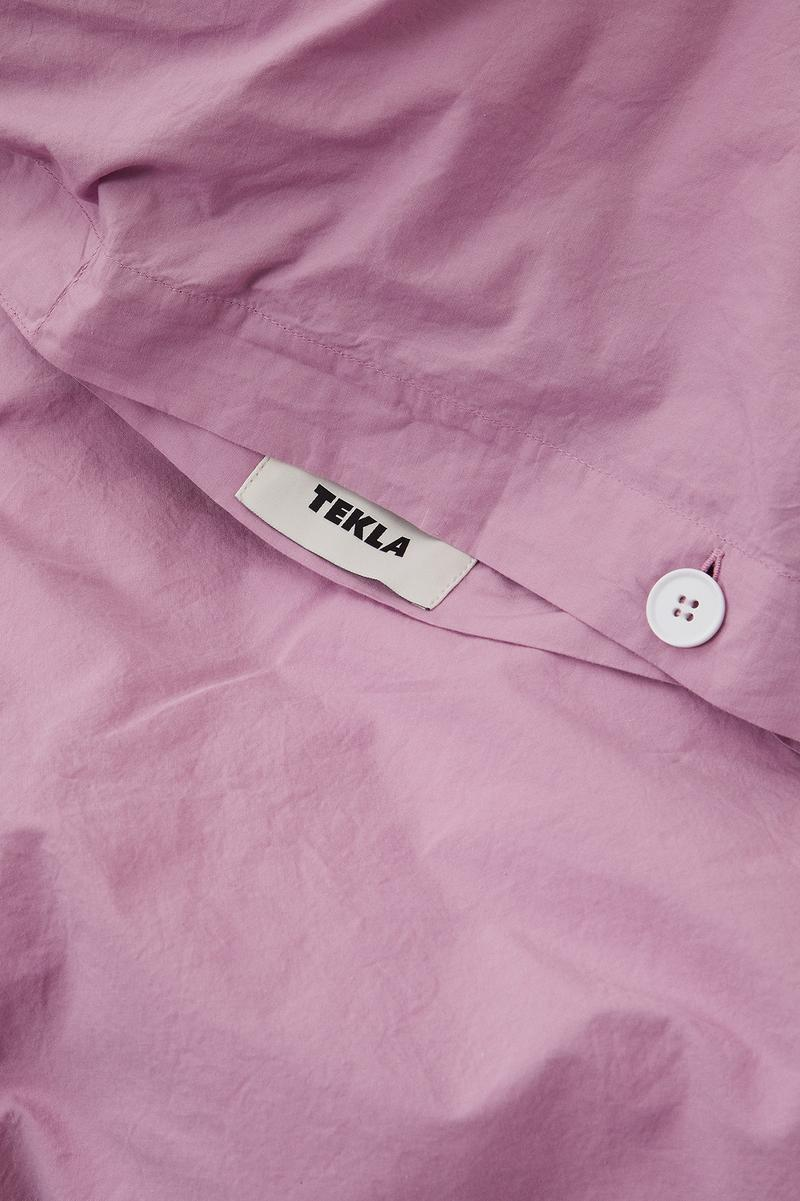 Tekla Percale Bedding Bed Sheets Mallow Pink