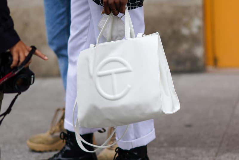 Telfar Bag White Paris Fashion Week Street Style 2021