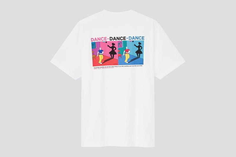 uniqlo ut haruki murakami author books collaboration t-shirt dance dance dance graphics