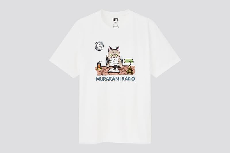 uniqlo ut haruki murakami author books collaboration t-shirt radio cat