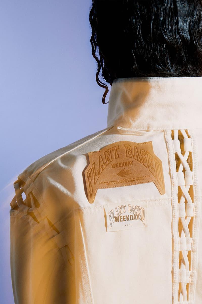 weekday hemp jeans couture denim sustainable plant based back jacket label laces