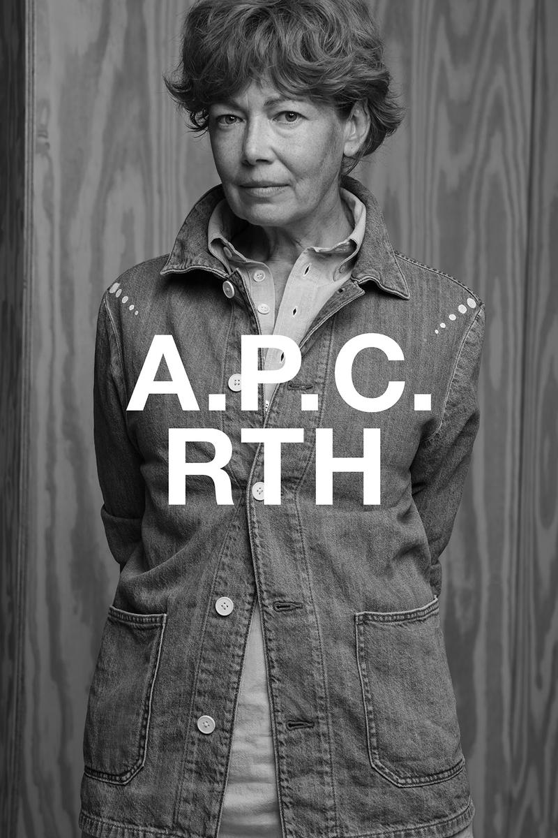 apc rth collaboration campaign denim shirt
