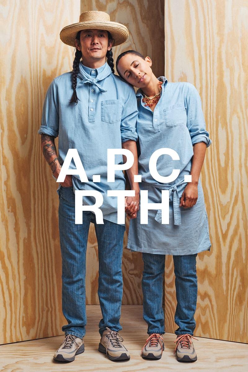 apc rth collaboration campaign denim shirt jeans pants sneakers hat