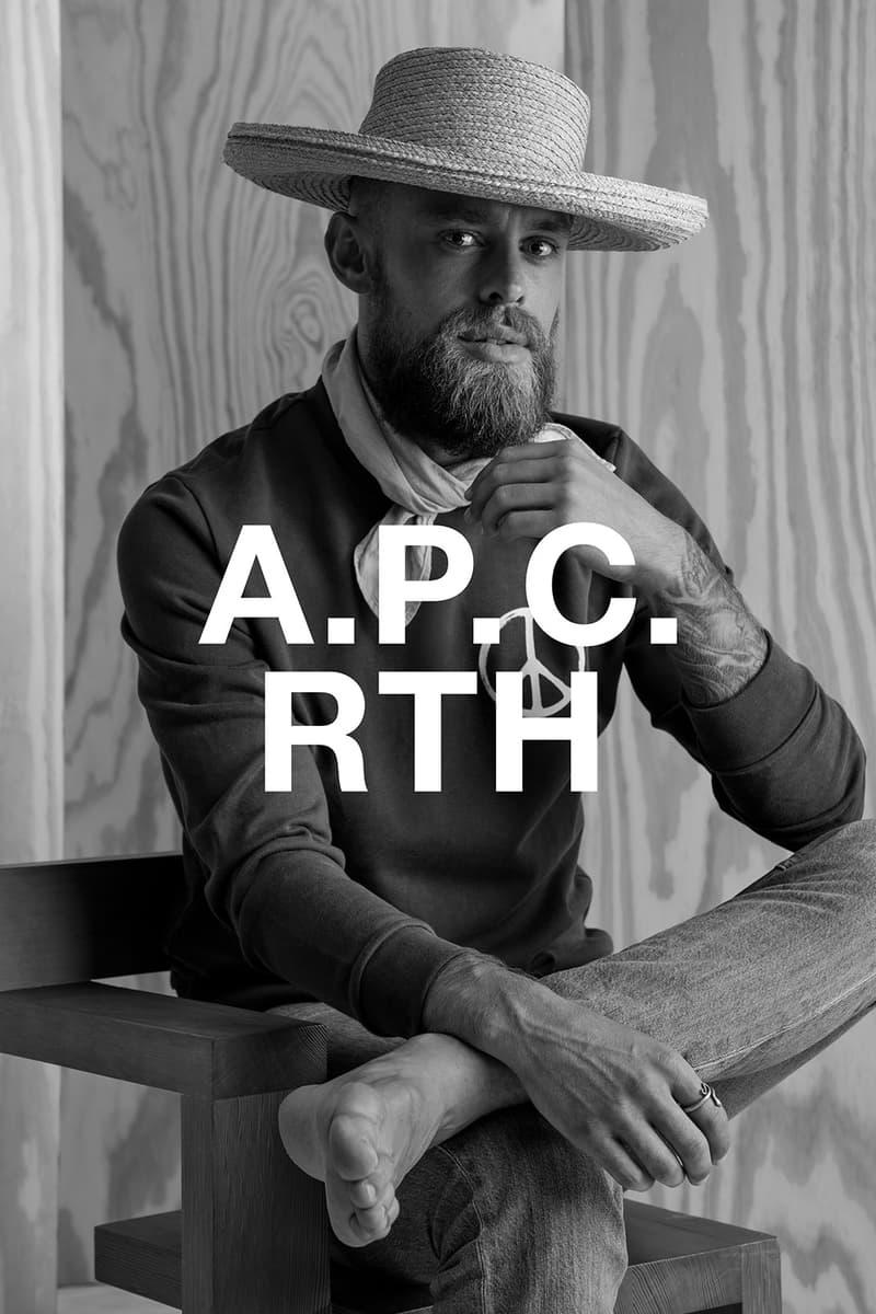 apc rth collaboration campaign hat denim shirt jeans