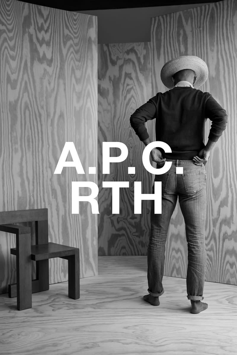 apc rth collaboration campaign jeans hat