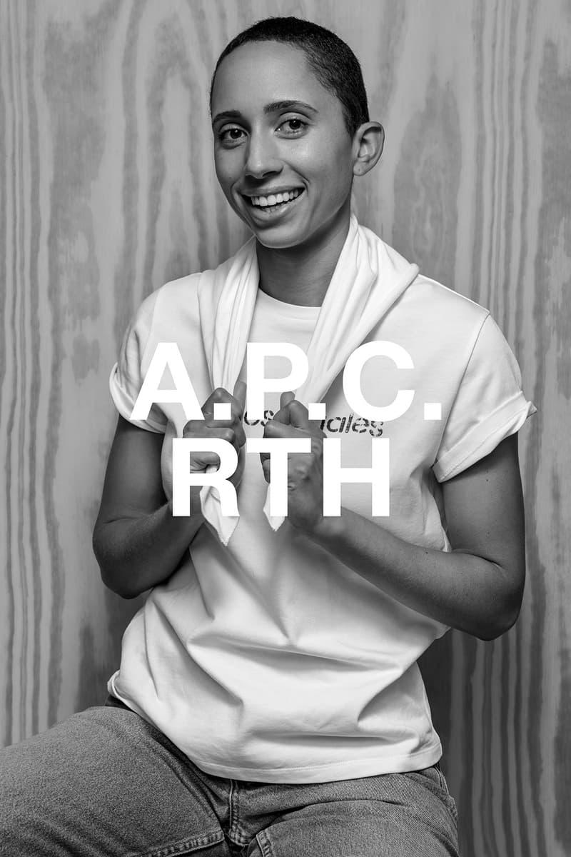 apc rth collaboration campaign t-shirt portrait