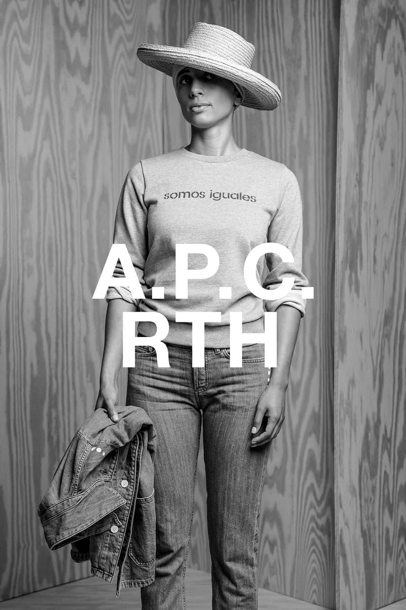 apc rth collaboration campaign logo t-shirt hat