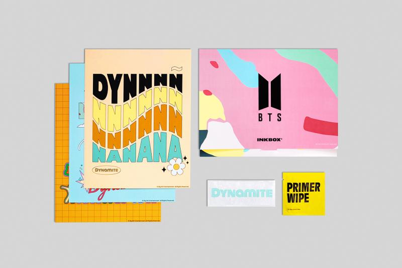 BTS x Inkbox Temporary Tattoo Collection Dynamite Design
