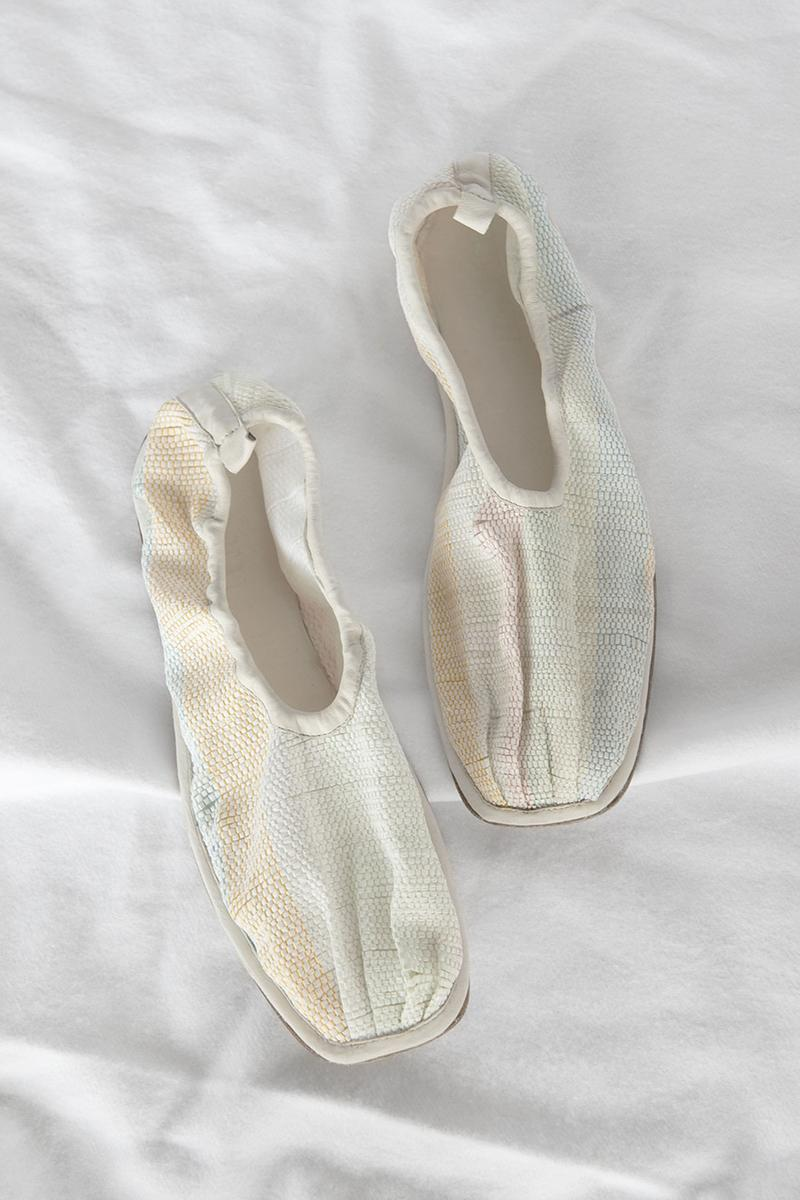 cecilie bahnsen hereu hyacinth flats shoes collaboration sustainable footwear off white