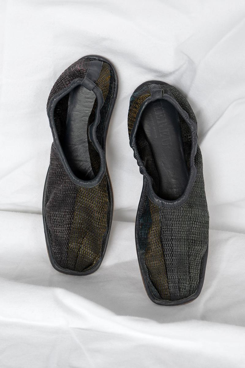 cecilie bahnsen hereu hyacinth flats shoes collaboration sustainable footwear black
