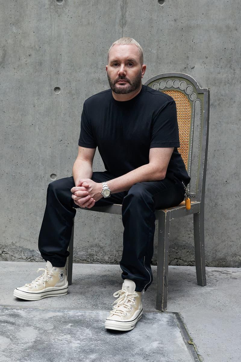 converse kim jones chuck 70 sneakers collaboration cream white pants black tee t shirt