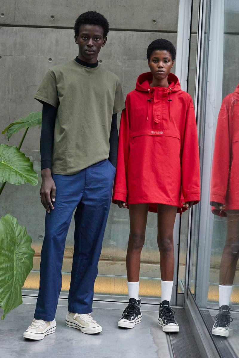 converse kim jones chuck 70 sneakers collaboration cream white parka sweatshirt pants black