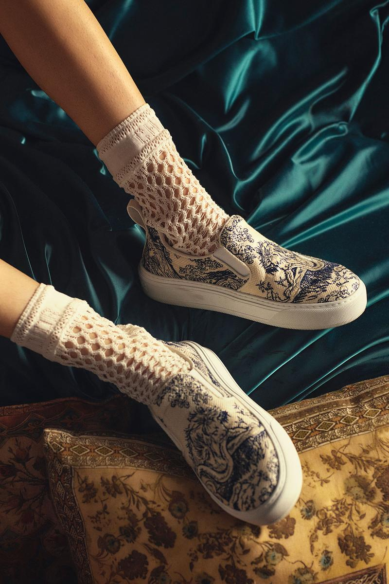 dior chez moi loungewear spring summer collection sneakers