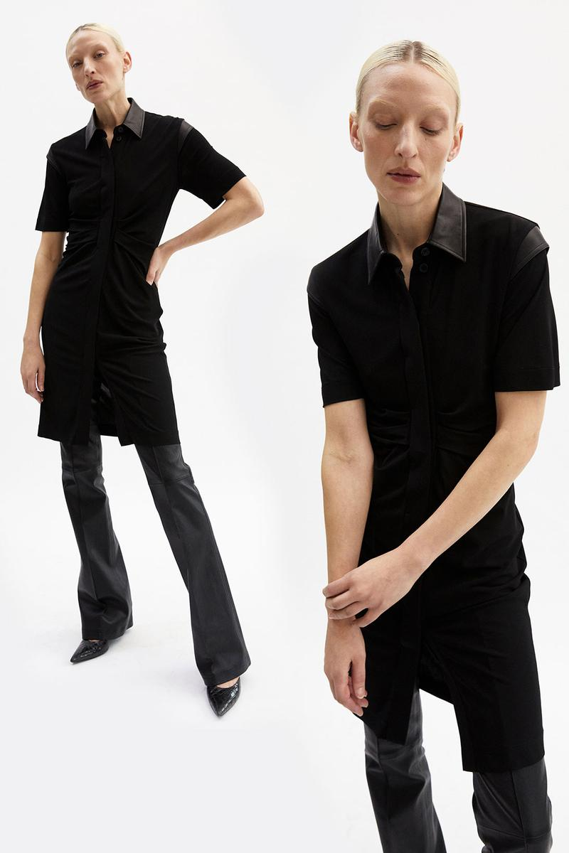 helmut lang fall winter 2021 fw21 collection lookbook black tee skirt pants