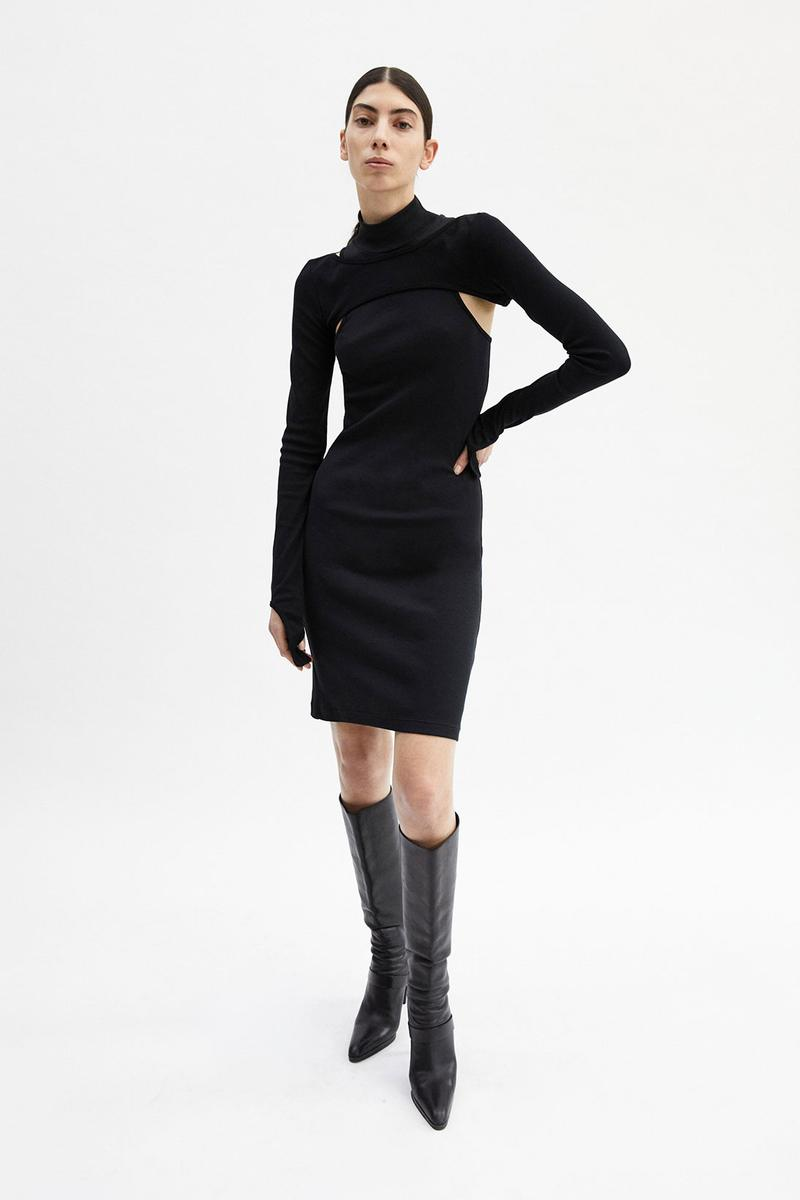 helmut lang fall winter 2021 fw21 collection lookbook dress boots cut out