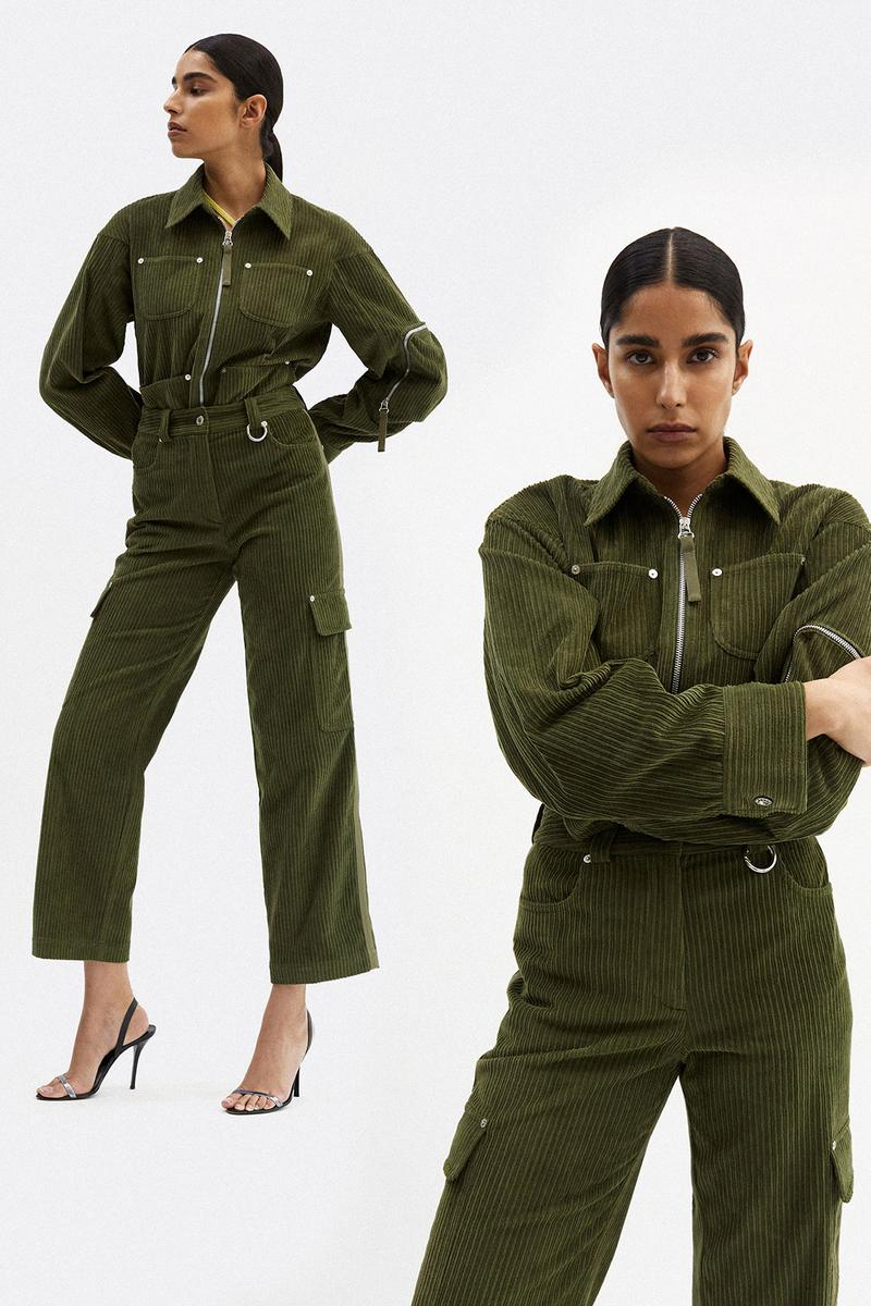 helmut lang fall winter 2021 fw21 collection lookbook corduroy jumpsuit