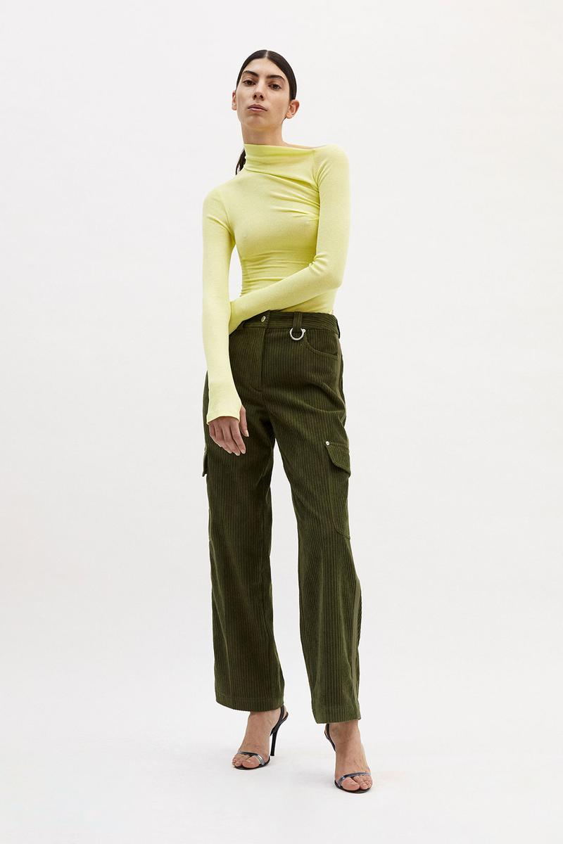 helmut lang fall winter 2021 fw21 collection lookbook corduroy pants sweater