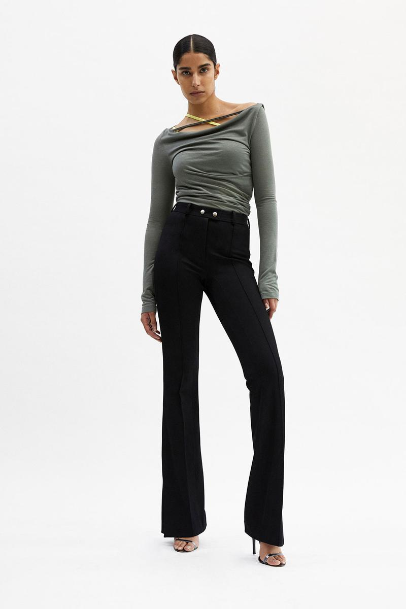 helmut lang fall winter 2021 fw21 collection lookbook long sleeved tee pants flared