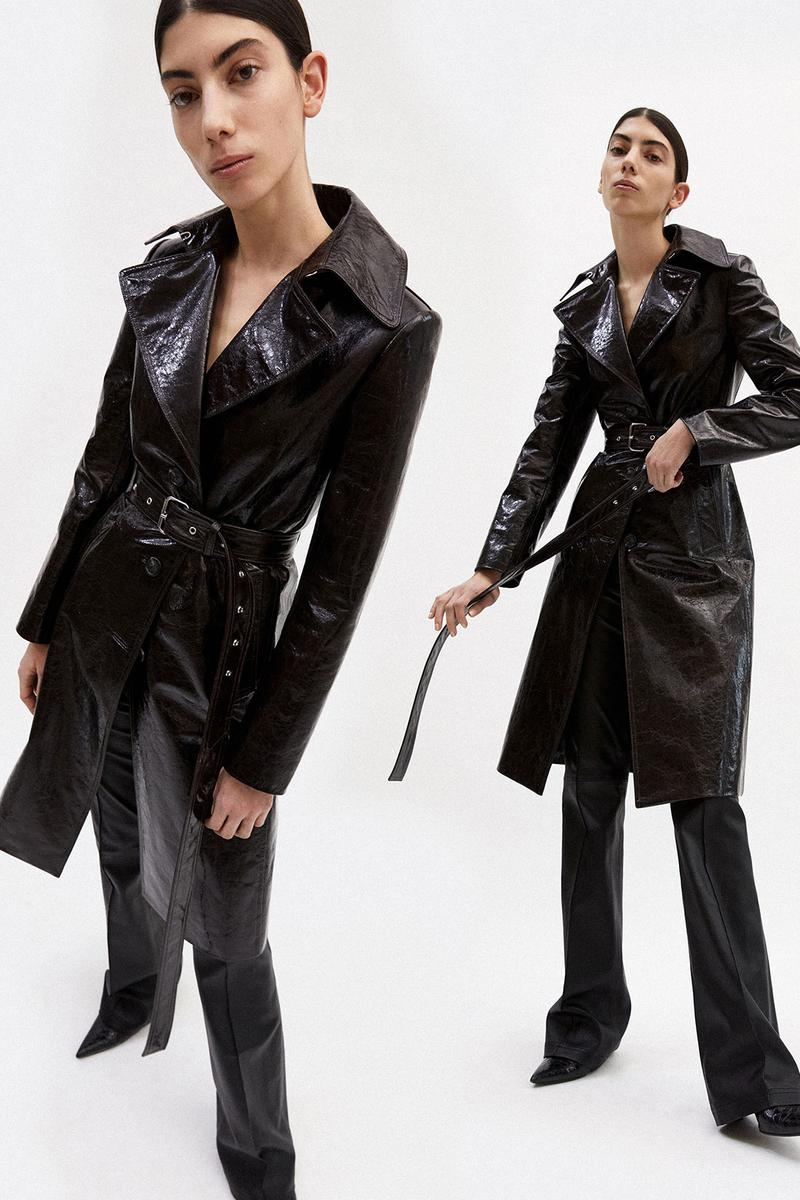 helmut lang fall winter 2021 fw21 collection lookbook leather coat trousers