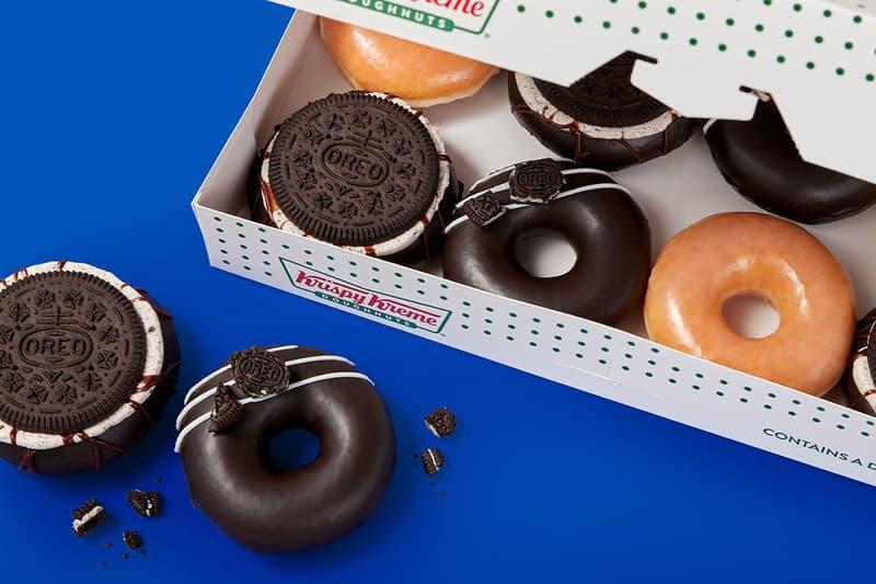 krispy kreme oreo glazed donuts cookies collaboration dessert