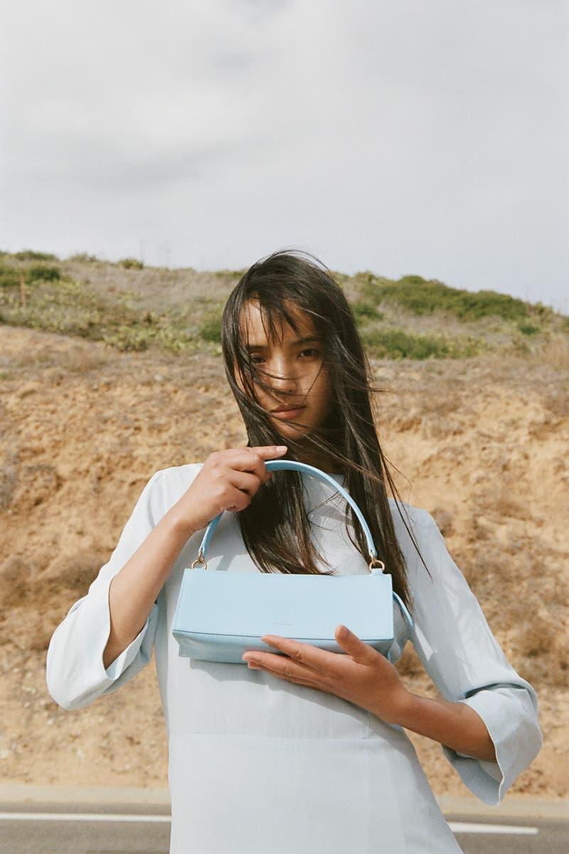 mansur gavriel pencil case handbag shoulder light blue accessory
