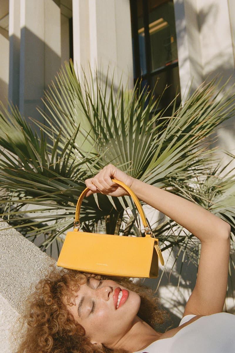 mansur gavriel pencil case handbag shoulder mustard yellow accessory