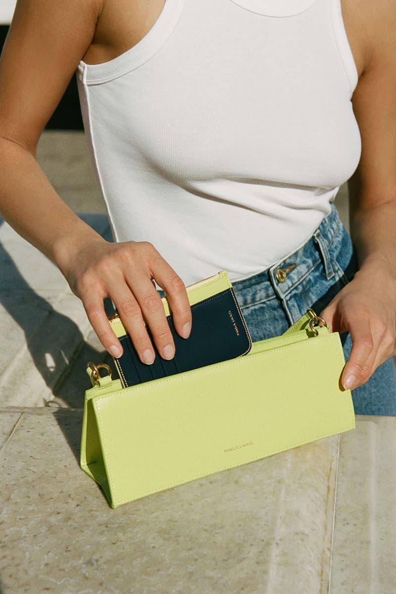mansur gavriel pencil case handbag shoulder lime green accessory
