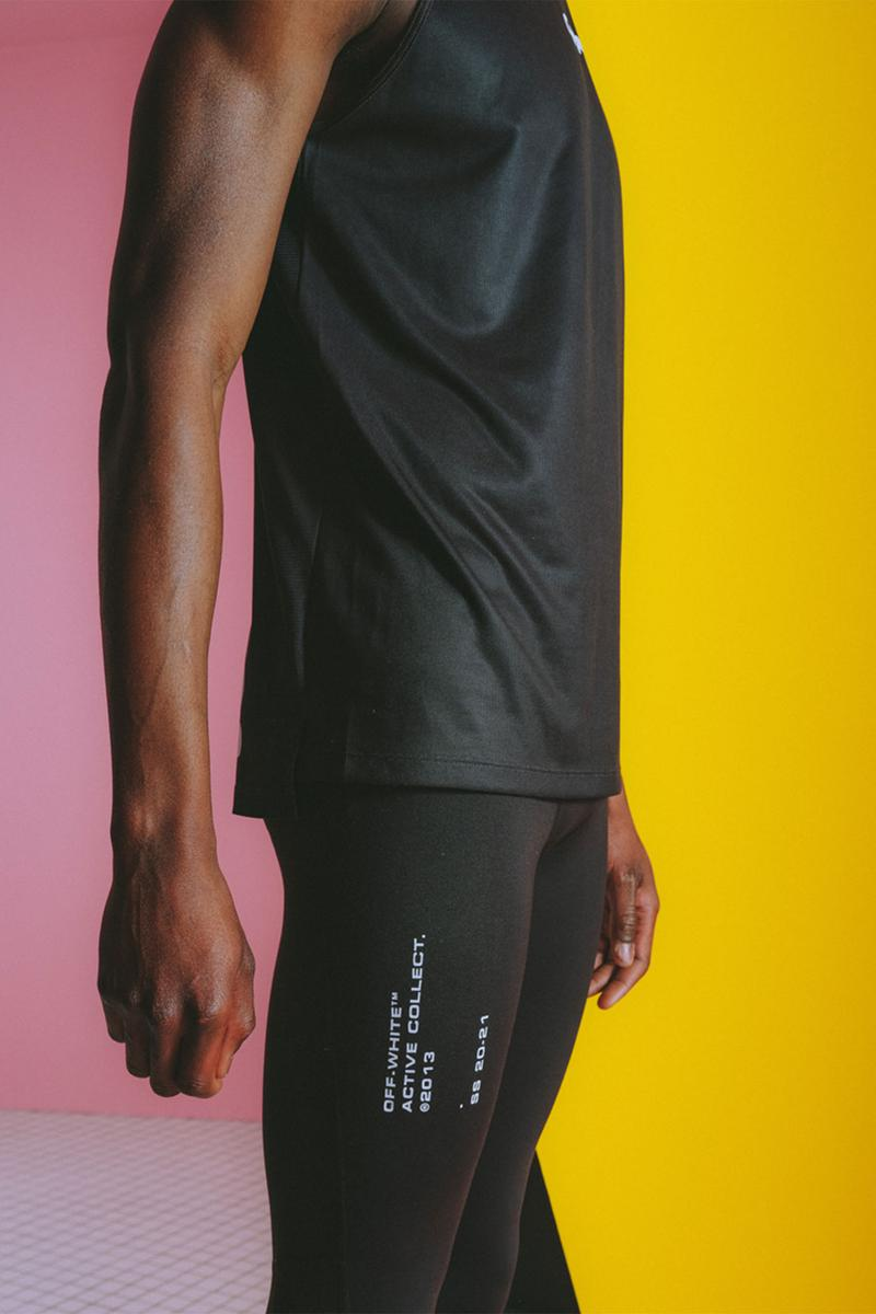 off white active collection two virgil abloh menswear shorts leggings details