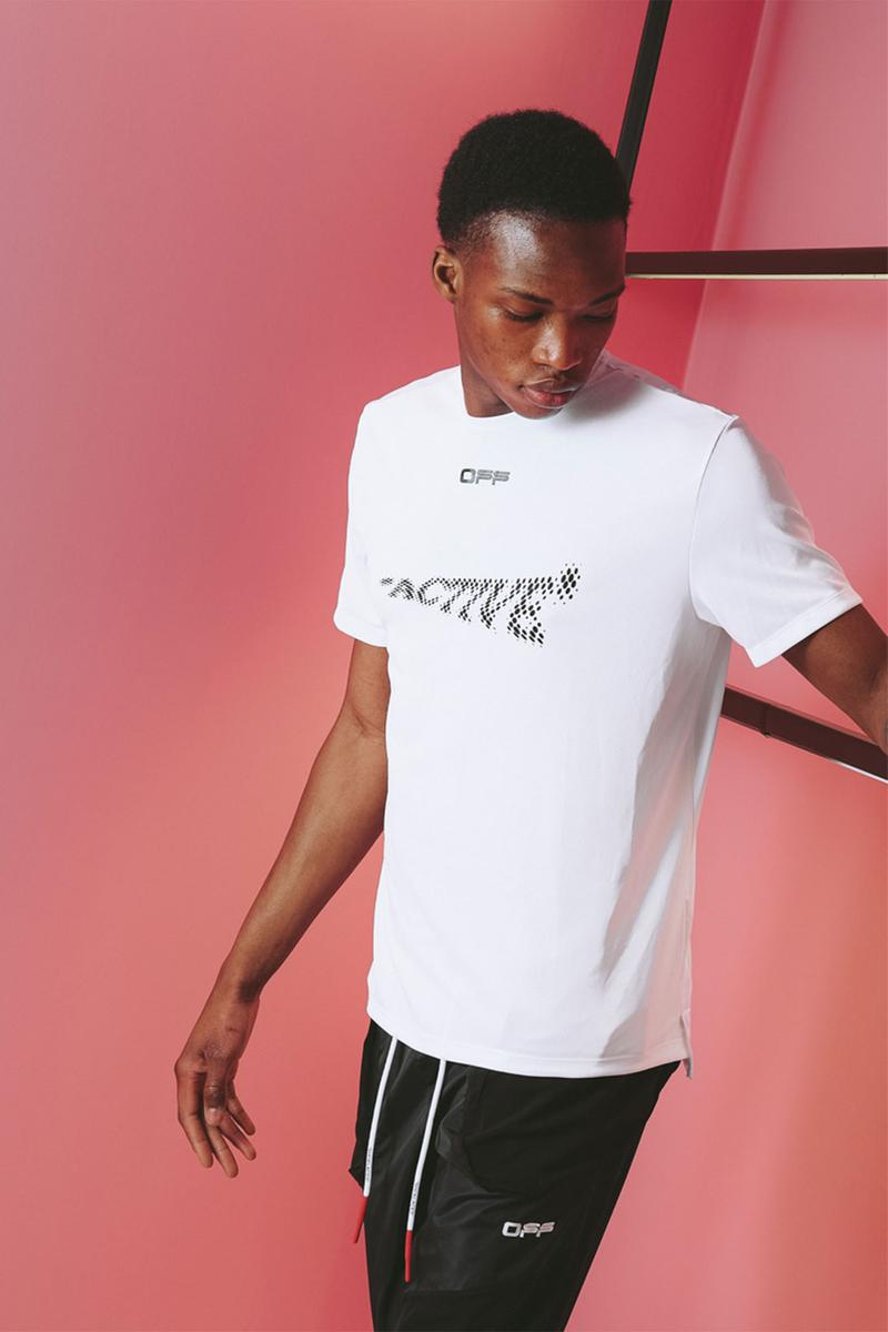 off white active collection two virgil abloh menswear white logo tshirt