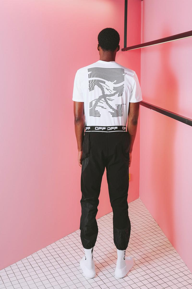off white active collection two virgil abloh menswear logo t-shirt pants jogger