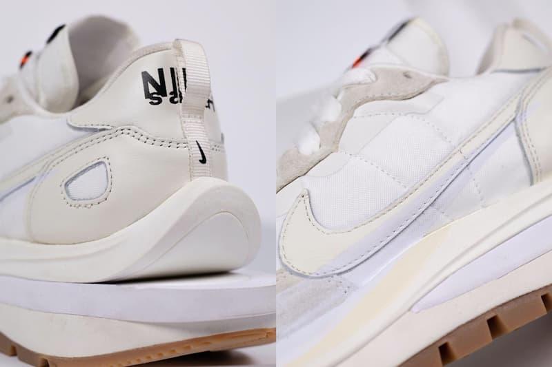 sacai nike vaporwaffle sail white cream sneakers collaboration colorway chitose abe