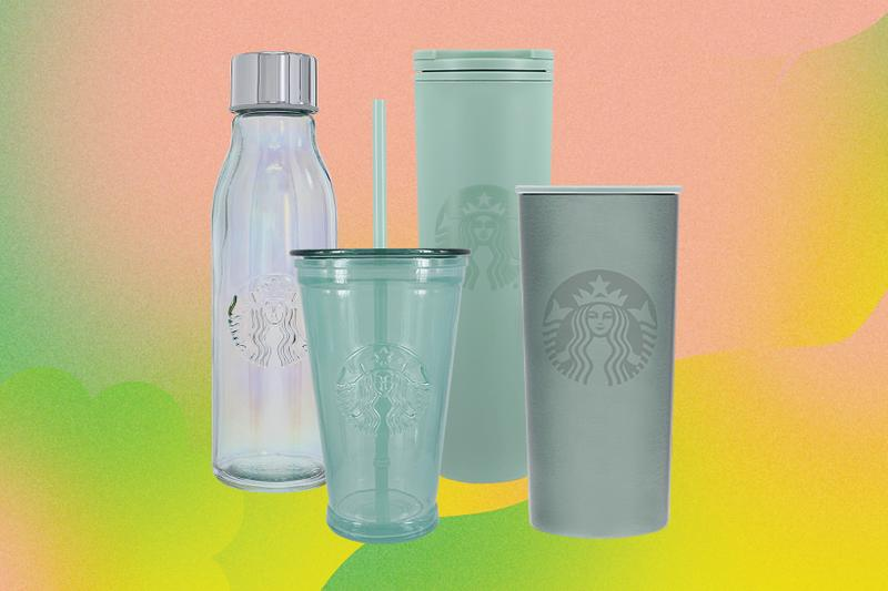 starbucks earth month merchandise tumblers glass water bottle cup sustainable