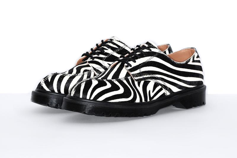 Supreme x Dr. Martens Collaboration SS21 5-Eye Shoe Zebra Print