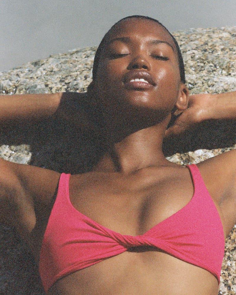 The Attico Summer 2021 Beachwear Capsule Collection Lookbook State Of Nature Swimwear Purienne Bikini Top Pink