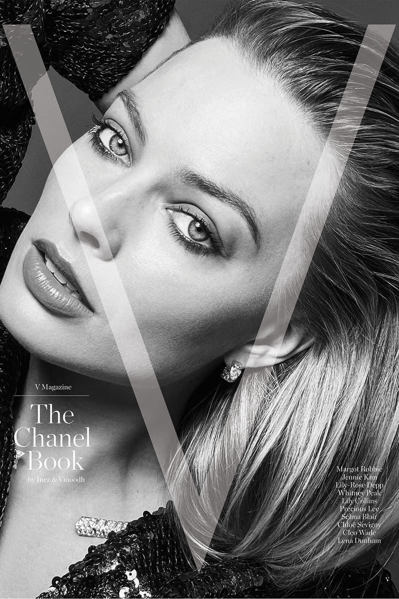 v magazine the chanel book cover margot robbie