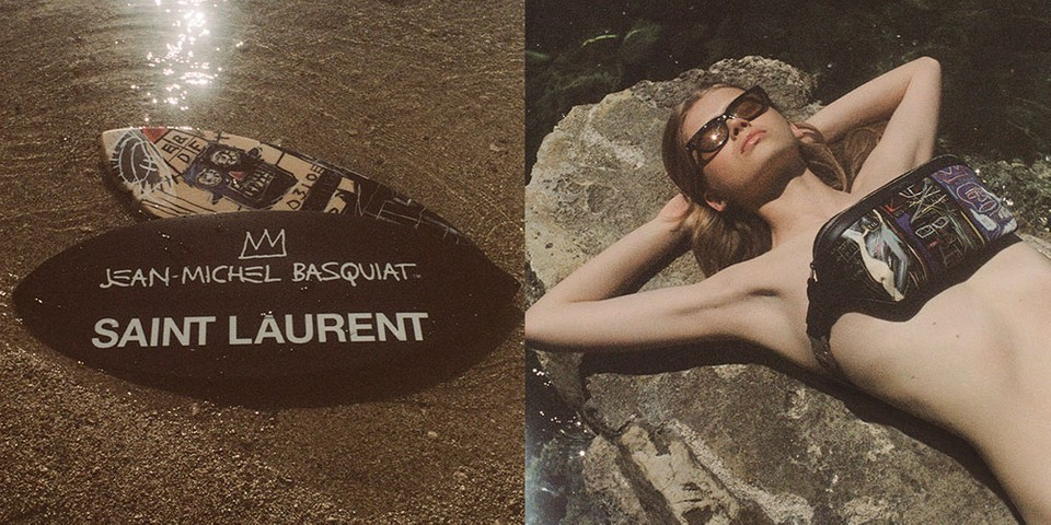 Jean-Michel Basquiat's Works Take Over Saint Laurent Rive Droite Capsule