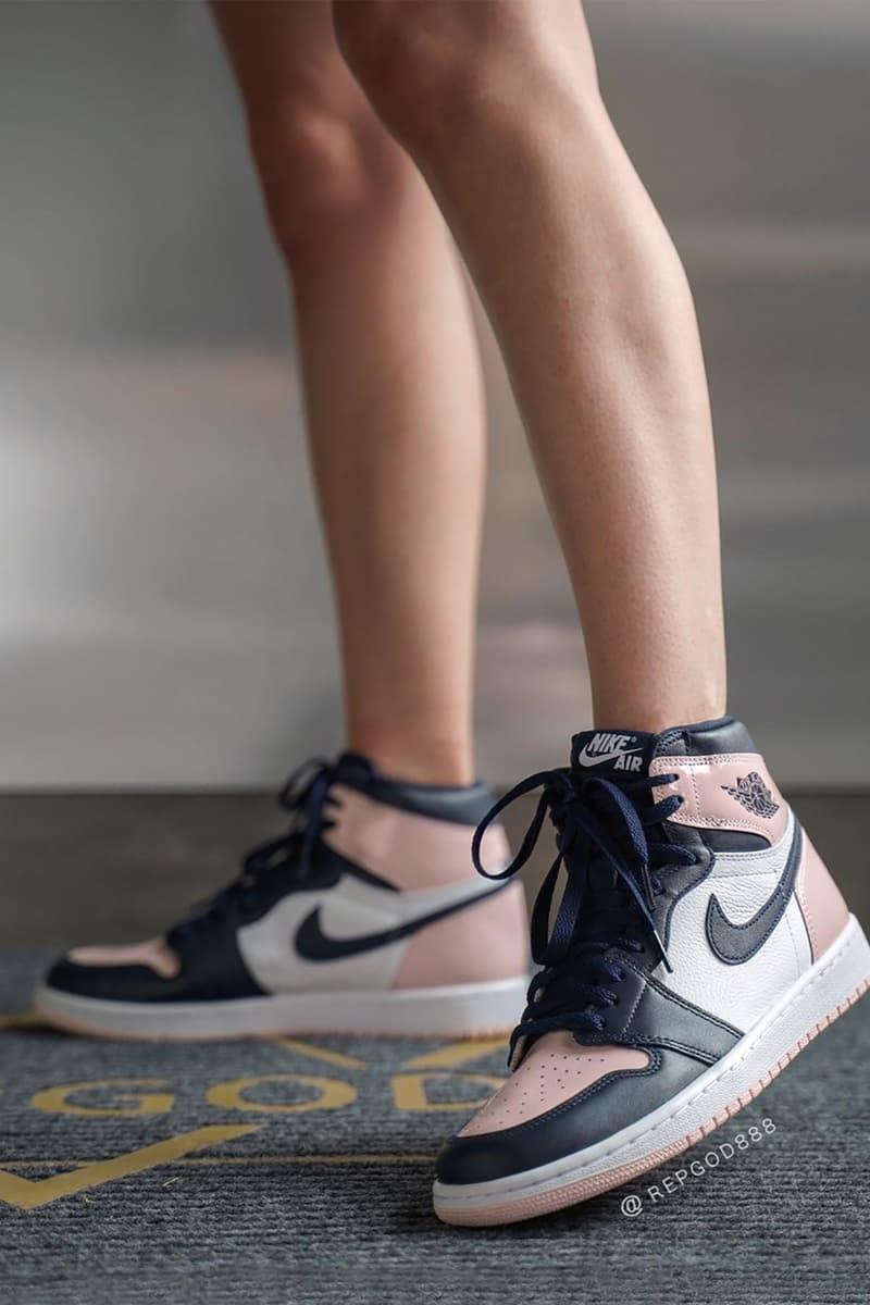 Nike Air Jordan 1 High Atmosphere On Foot Look Hypebae