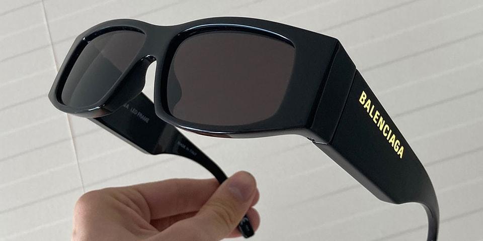 Balenciaga Launches Sunglasses With LED-Lit Logo
