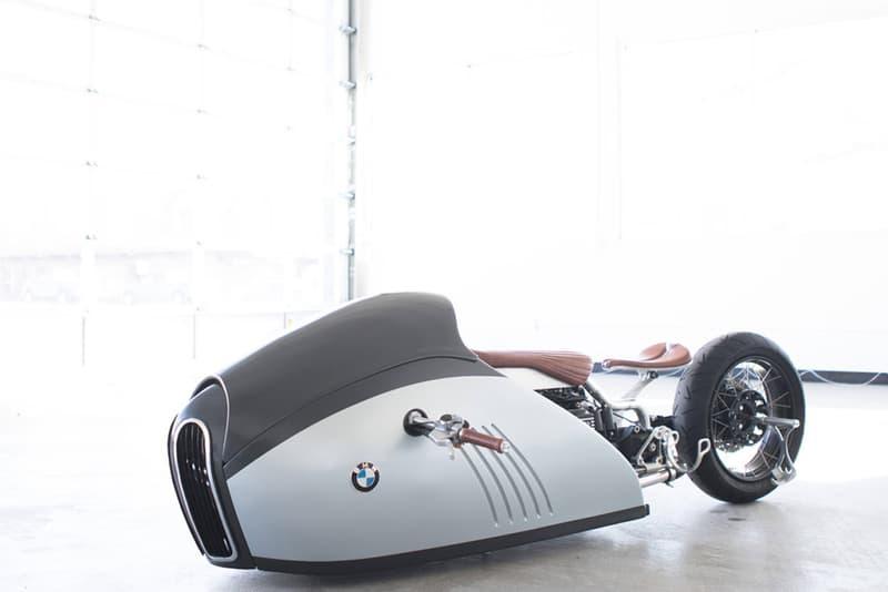 "BMW K75 をカスタムした流線型バイク ""Alpha"""