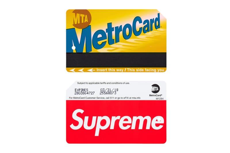 シュプリームのメトロカード転売額は加算されている乗車料金の30倍