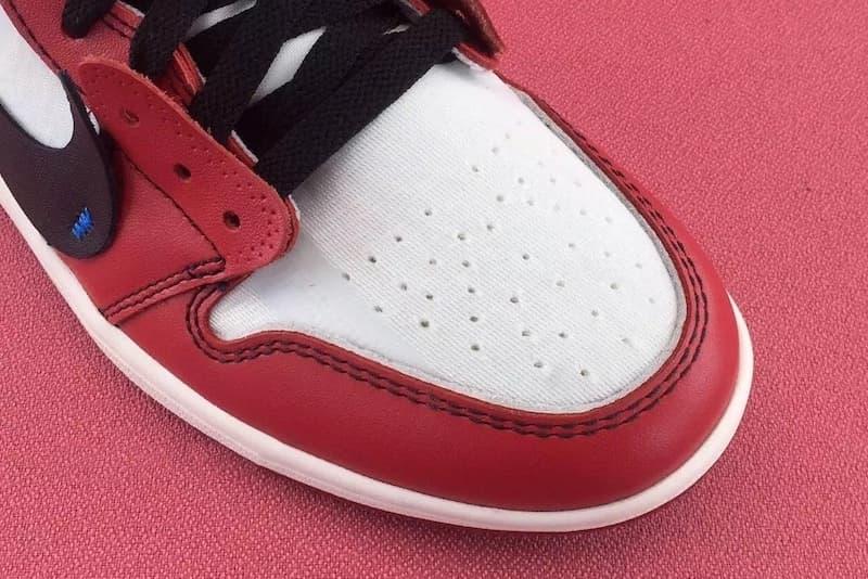 OFF-WHITE™ x Air Jordan 1 にクローズアップ