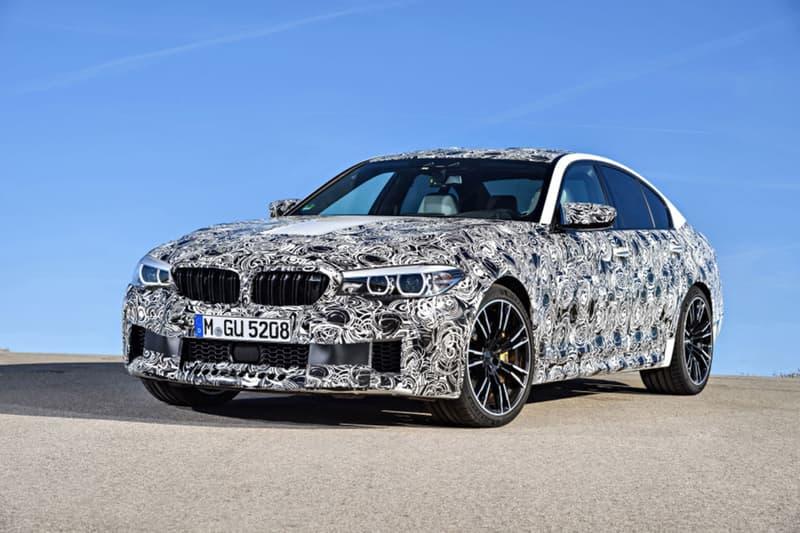 BMW が次期型 M5 の開発プロトタイプ車を公開